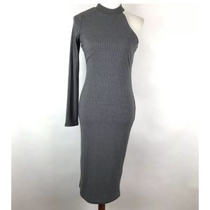 NSR Ribbed One Shoulder Bodycon Dress Size Medium
